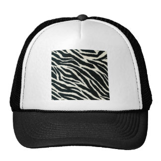 RAB Rockabilly Zebra Print Black & White Trucker Hat