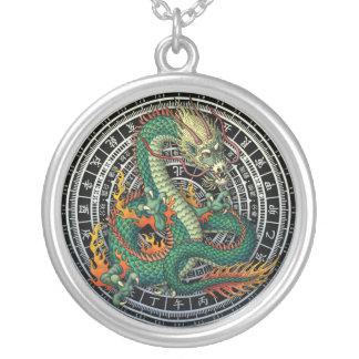 raban ryuu round pendant necklace