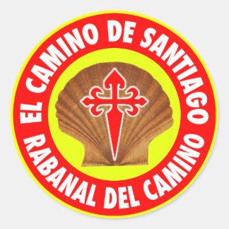 Rabanal Del Camino Classic Round Sticker