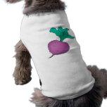 rábano púrpura camiseta de perro