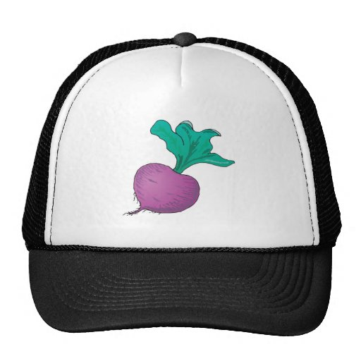 rábano púrpura gorros bordados