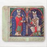 Rabanus Maurus que ofrece su libro Alfombrillas De Ratón