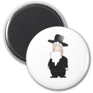 Rabbi 2 Inch Round Magnet