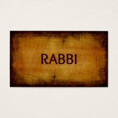 Rabbi Antique Brushed Wood Business Card at Zazzle