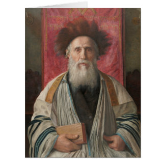 Rabbi - Painting by Isador Kaufmann - Circa 1920 Card