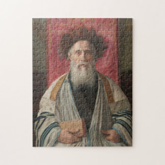 Rabbi - Painting by Isador Kaufmann - Circa 1920 Jigsaw Puzzle