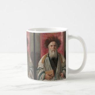 Rabbi - Painting by Isador Kaufmann - Circa 1920 Classic White Coffee Mug