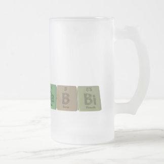 Rabbi-Ra-B-Bi-Radium-Boron-Bismuth.png Frosted Glass Beer Mug