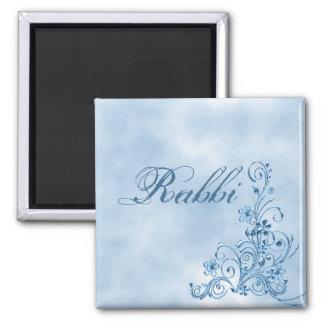 Rabbi Square Magnet: Sky Blue Elegance 2 Inch Square Magnet