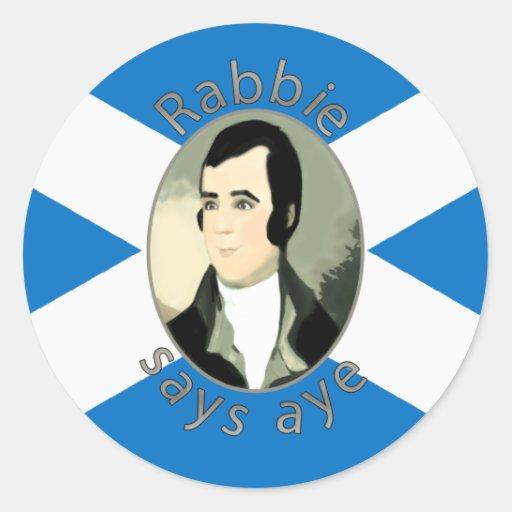 Rabbie Burns Scottish Independence Sticker