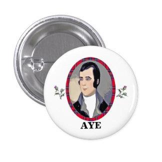 Rabbie Burns Tartan Aye Pinback Button