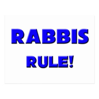Rabbis Rule! Postcard