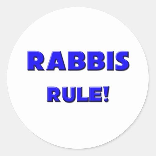 Rabbis Rule! Round Sticker