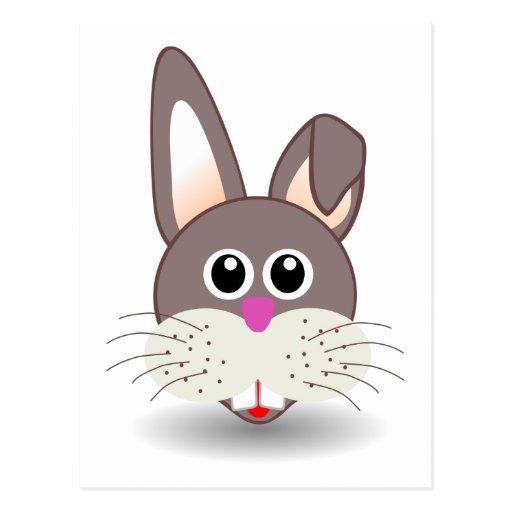 Rabbit_001_Face_Cartoon_Vector_Clipart Postal