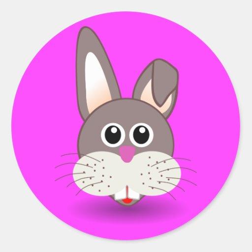 Rabbit_001_Face_Cartoon_Vector_Clipart Sticker