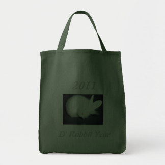 Rabbit 2011 D Rabbit Year - Grocery Tote Bag