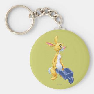 Rabbit 2 basic round button keychain