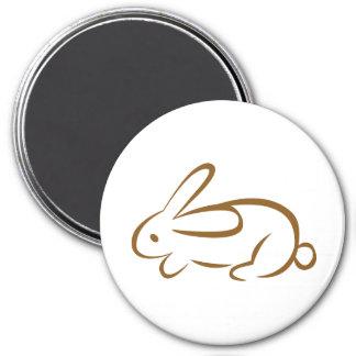 rabbit 3 inch round magnet