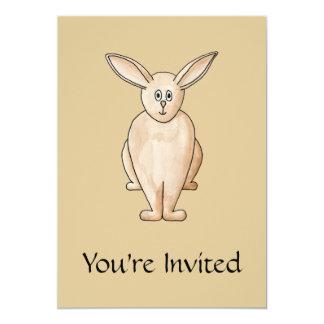 Rabbit. 5x7 Paper Invitation Card