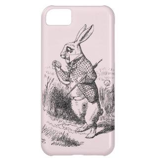 Rabbit_Alice blanco en caso del iPhone 5 del país Funda Para iPhone 5C