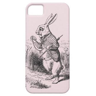 Rabbit_Alice blanco en caso del iPhone 5 del país iPhone 5 Carcasas