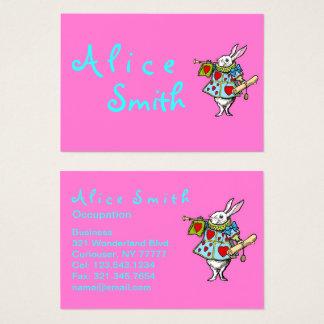 Rabbit Alice in Wonderland - Business Cards