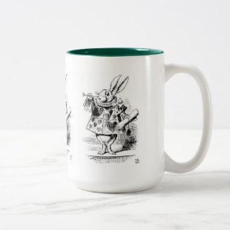 "Rabbit, ""Alice's Adventures in Wonderland"" Two-Tone Coffee Mug"