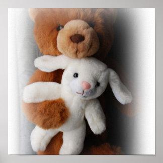 Rabbit And Bear Easter Print