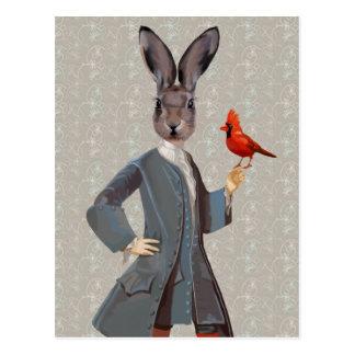 Rabbit And Bird Postcard