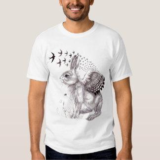 Rabbit and Birds Tonal Tshirt