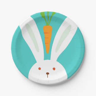 Rabbit and Carrot Paper Plate