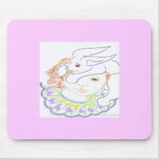 Rabbit and Child Mouse Pads