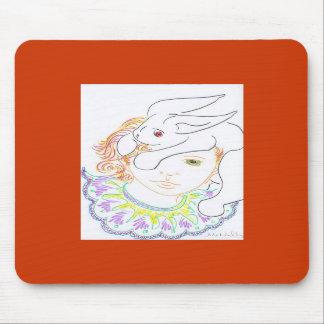 Rabbit and Child Mousepad
