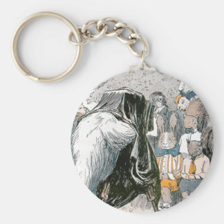 Rabbit and Chipmunks Pose for Portrait Keychain