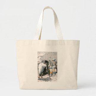Rabbit and Chipmunks Pose for Portrait Large Tote Bag