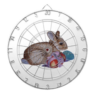 Rabbit And Easter Eggs Painting Dartboard