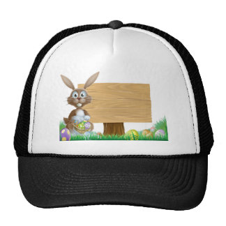 Rabbit and Easter sign Mesh Hat