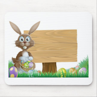 Rabbit and Easter sign Mousepad