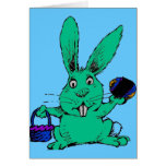 RABBIT AND EGGS CARD