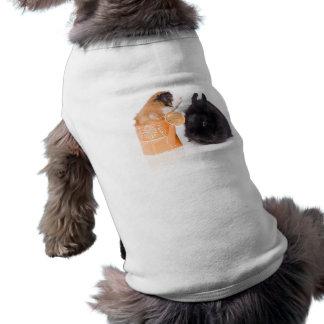 rabbit and guinea pig dog shirt