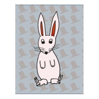 Rabbit and hats postcard
