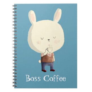 Rabbit and Morning Coffee Note Book