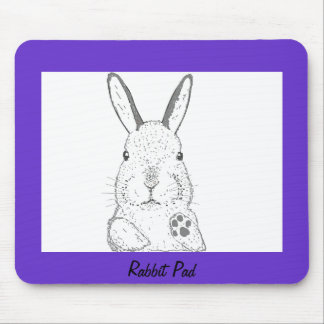 Rabbit and other designs mouse pad