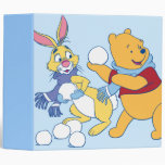 Rabbit and Pooh 3 Ring Binder