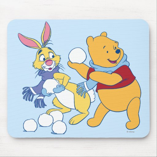 Rabbit and Pooh Mouse Pads