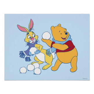 Rabbit and Pooh Poster