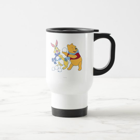 Rabbit and Pooh Travel Mug