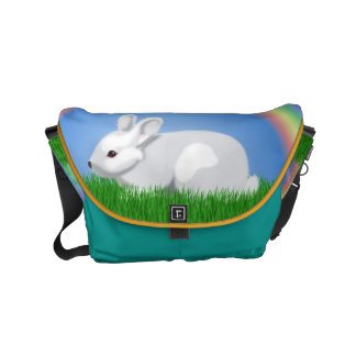 Rabbit and Rainbow Small Messenger Bag