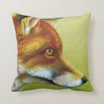 Rabbit and the fox fine art pillow