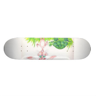 Rabbit and Turtle Skateboard Deck